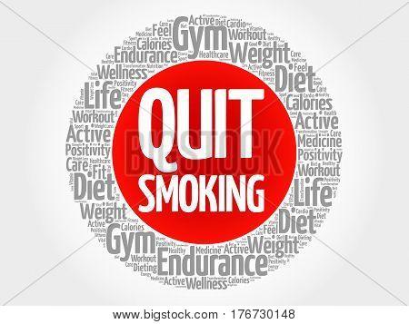 Quit Smoking Word Cloud Collage