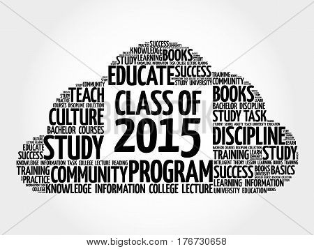 Class Of 2015 Word Cloud Collage