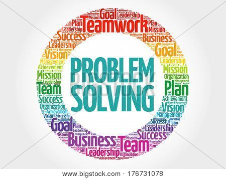 Problem Solving Circle Word Cloud