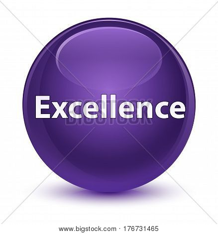 Excellence Glassy Purple Round Button