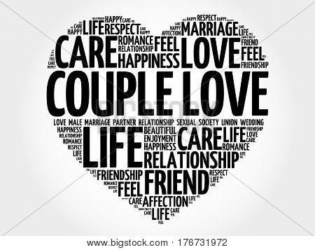 Couple Love Word Cloud Collage