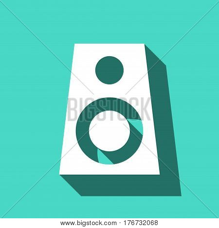 Audio speakers icon stock vector illustration flat design