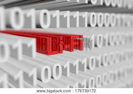 Li-Fi is presented in the form of binary code blurred background 3d illustration