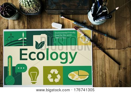Environmental conservation energy saving graphic