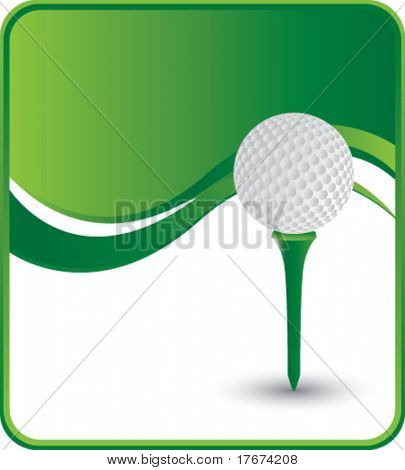 elegante Golf-Ball und Tee-Hintergrund