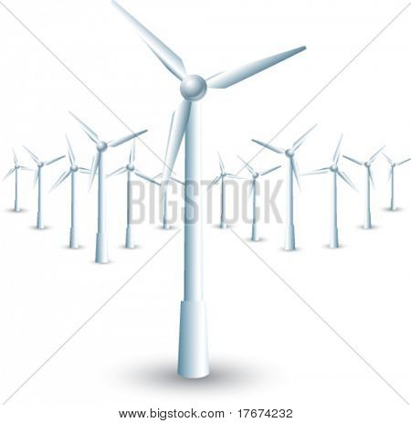 isolated windmills