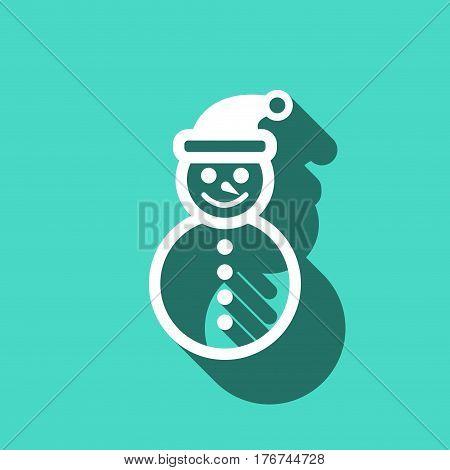 snowman icon stock vector illustration flat design
