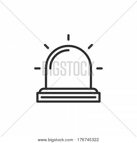 Flasher Alarm lamp line icon outline vector sign linear pictogram isolated on white. Symbol logo illustration