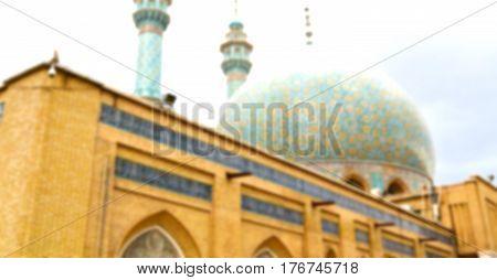 In Iran  And Old Antique Mosque    Minaret