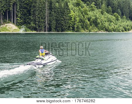 Jet skiing Sports entertainment on the water