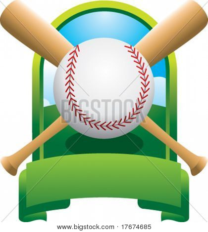 featured baseball and crossed bats