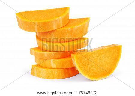Pumpkin isolated on white background Closeup, One, Seasonal, Fresh, Autumn, Orange, Food, Ripe, Vegetable, Treat, Trick