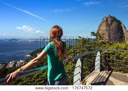 Girl At Pao De Acucar
