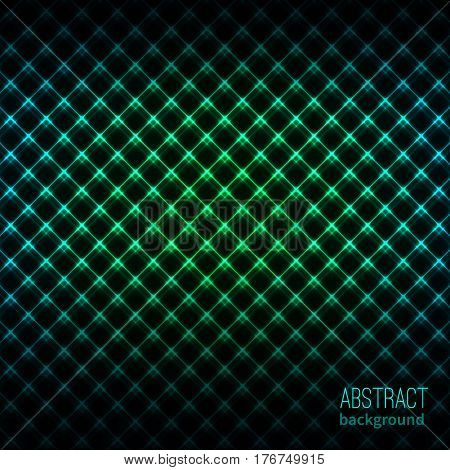 Abstract vector background. Glowing lines. Vector illustration