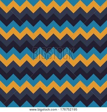 Chevron pattern seamless vector arrows geometric design colorful yellow sky blue dark green naval