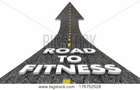 Road to Fitness Lose Weight Exercise Healthy Lifestyle 3d Illustration