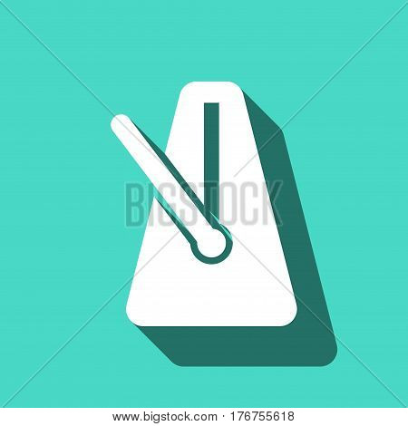metronome icon stock vector illustration flat design