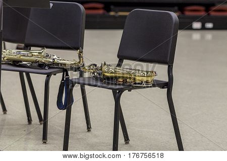 the alto sax section, is on break