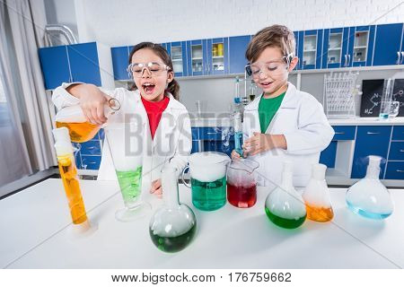 Kids In Chemical Lab