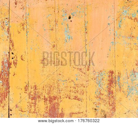 old orange painted wooden background. . Photo texture