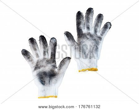 Working gloves. Isolated on a white background.