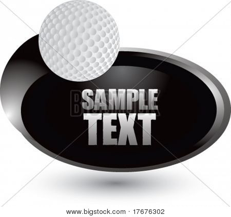 silver swoosh golf ball icon