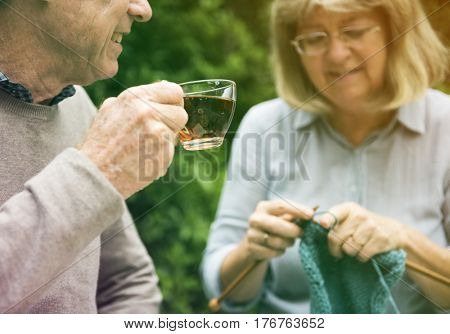 Senior adult couple spending time together after retirement