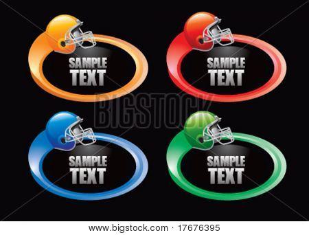 color swoosh football helmet  icon