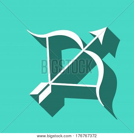 Archery Arrow Target Equipment Sport Icon Flat Vector Illustration
