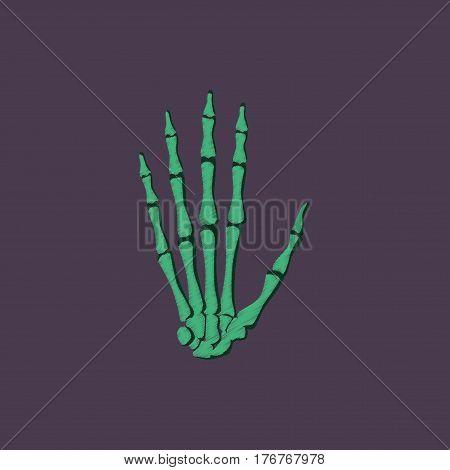 flat shading style icon human wrist bone