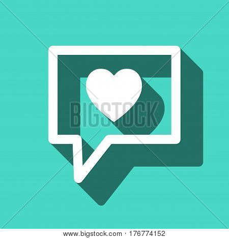Speech Bubbles Icon. chat love pictogram stock vector illustration