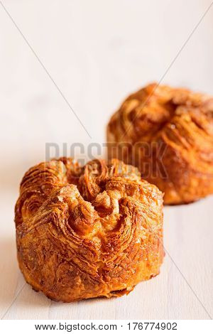 delicious and sweet kouign amann traditional breton pastry