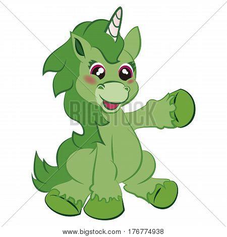 Unicornio Apuntando