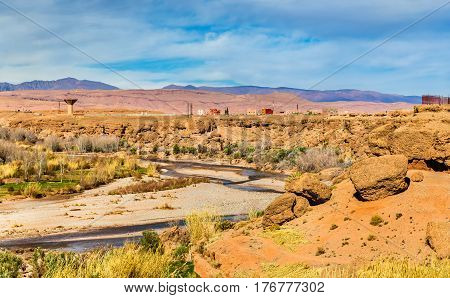 The Asif M'Goun river forming the Valley of Roses at Kalaat M'Gouna - Morocco