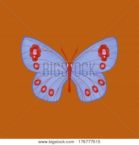 flat shading style icon spring insect butterfly