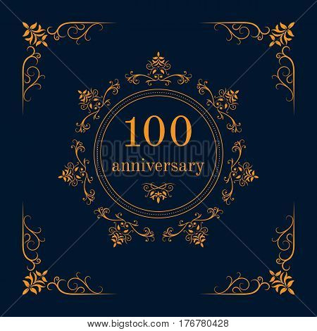 100 year anniversary celebration card,  anniversary background. Vector illustration