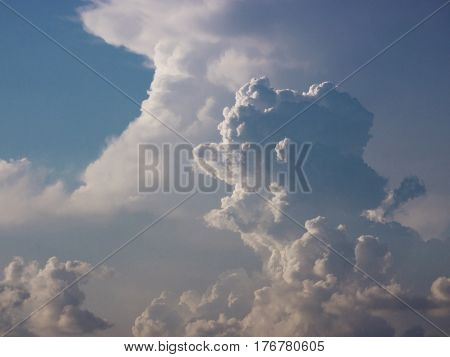 Cloudscape sky scenic cumulus nature animal face shape