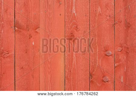 Natural Old Red Obsolete Wooden Wall Board Background Texture.