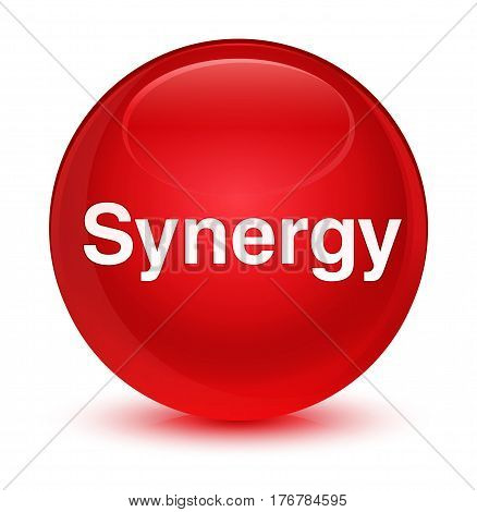 Synergy Glassy Red Round Button
