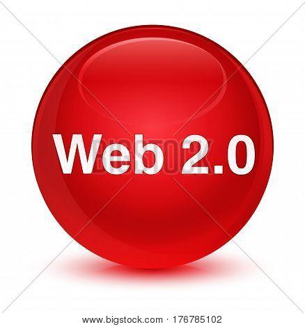 Web 2.0 Glassy Red Round Button