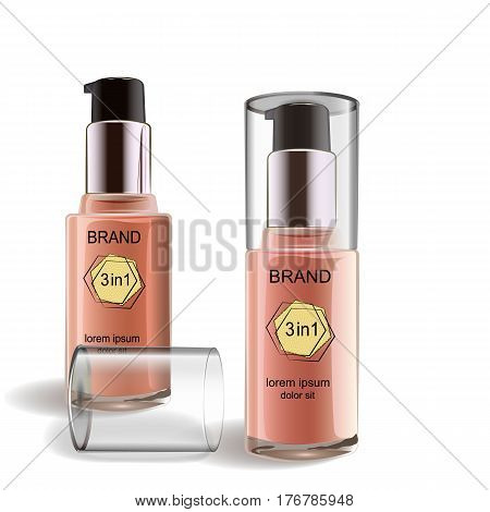 Cosmetic product, Foundation, concealer, cream. Cosmetic product, concealer corrector cream Use for advertising flyer banner leaflet