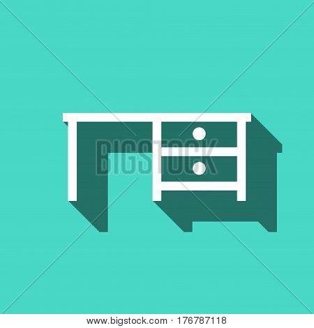 Desk icon stock vector illustration flat design