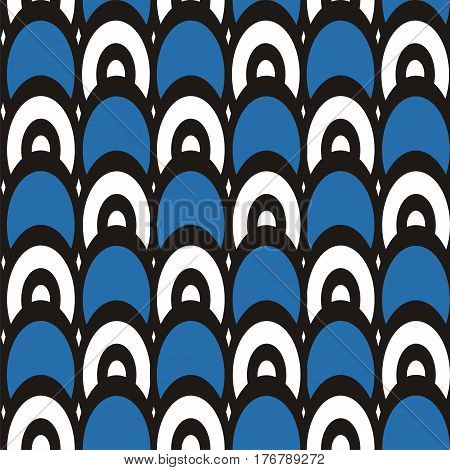 Vector illustration of seamless geometric pattern with ellipses