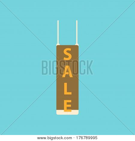 Flat icon of signboard sale business discount