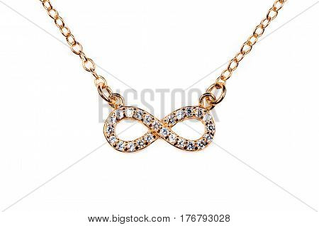 Bronze Infinity Pendant With Diamond