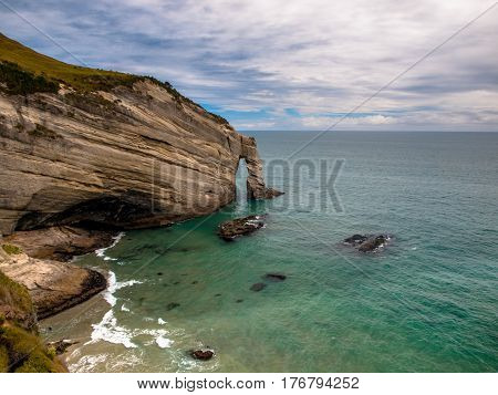 Cape Farewell Natural Rocky Arch new zealand