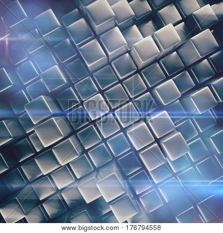 Abstract background of cubes in gray toned.
