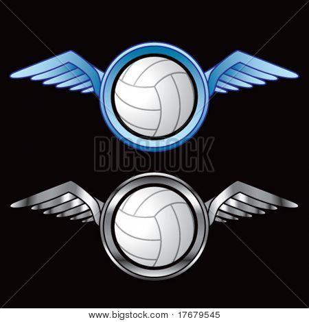 icono alado con voleibol