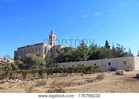 Historical Mar Elias by Ramat Rachel.  A Greek -Orthodox Monastery between Jerusalem and Bethlehem, Israel.