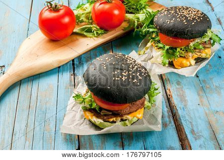 Freshly Homemade Black Burgers